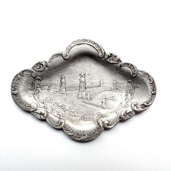 Coupelle vide poche Pont Alexandre III 1900 Souviens Toi De Paris vue 0 Paris vintage souvenir