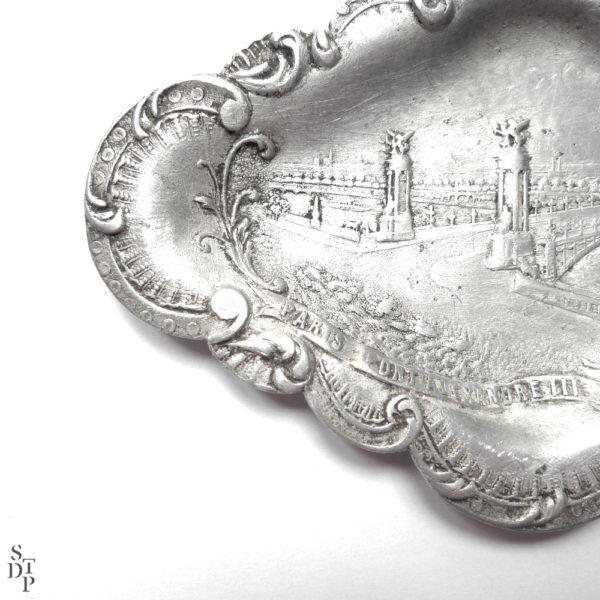 Coupelle vide poche Pont Alexandre III 1900 Souviens Toi De Paris vue 2 Paris vintage souvenir