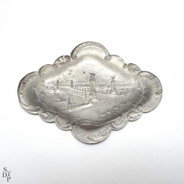 Coupelle vide poche Pont Alexandre III 1900 Souviens Toi De Paris vue 3 Paris vintage souvenir