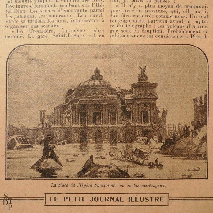 Petit Journal Illustré 22 novembre 1925 prédiction du Fakir Fhakya-Khan destruction de Paris en 1926 Souviens Toi De Paris vue 4
