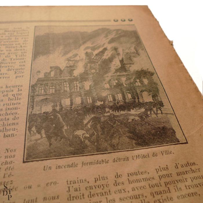 Petit Journal Illustré 22 novembre 1925 prédiction du Fakir Fhakya-Khan destruction de Paris en 1926 Souviens Toi De Paris vue 5