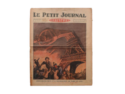Le Petit Journal Illustré 22 novembre 1925 prédictions du Fakir Fhakya-Khan destruction de Paris en 1926 Souviens Toi De Paris vue 0 vintage Tour Eiffel