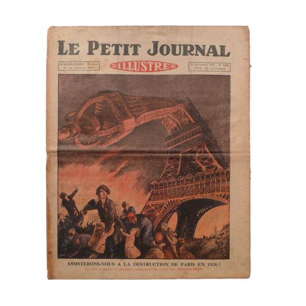 Le Petit Journal Illustré 22 novembre 1925 prédictions du Fakir Fhakya-Khan destruction de Paris en 1926 Souviens Toi De Paris vue 0 vintage Tour Eiffel
