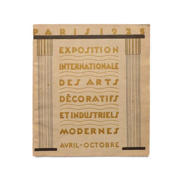 Programme de l'Exposition Internationale des Arts Décoratifs 1925 Souviens Toi De Paris vue 0 vintage art deco