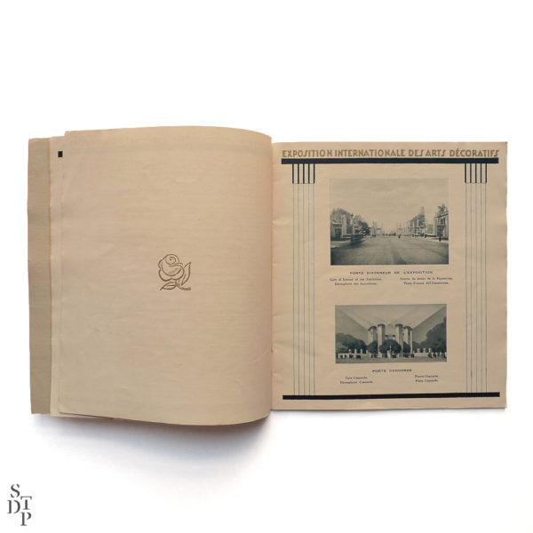 Programme de l'Exposition Internationale des Arts Décoratifs 1925 Souviens Toi De Paris vue 3 vintage art deco