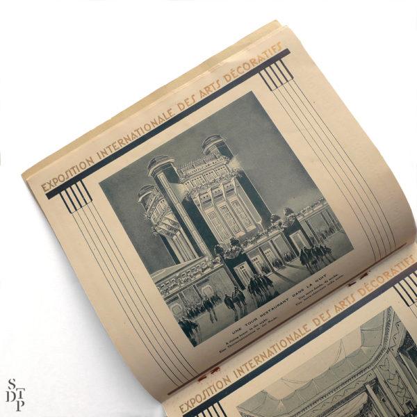 Programme de l'Exposition Internationale des Arts Décoratifs 1925 Souviens Toi De Paris vue 4 vintage art deco