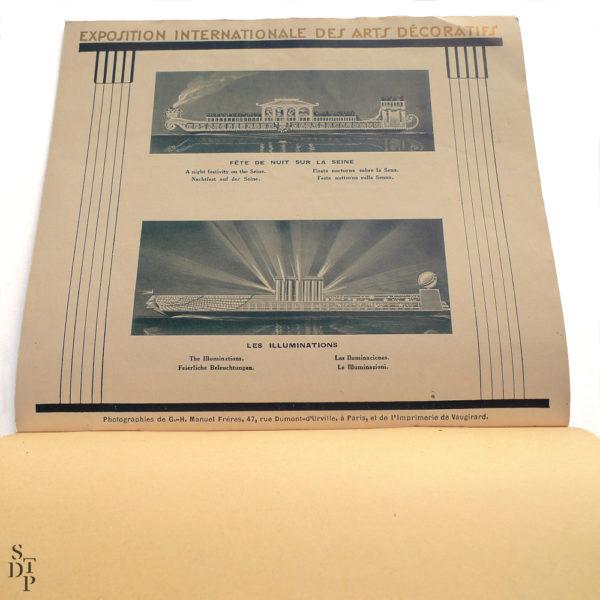 Programme de l'Exposition Internationale des Arts Décoratifs 1925 Souviens Toi De Paris vue 5 vintage art deco