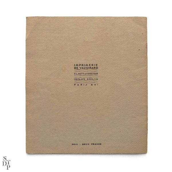 Programme de l'Exposition Internationale des Arts Décoratifs 1925 Souviens Toi De Paris vue 6 vintage art deco