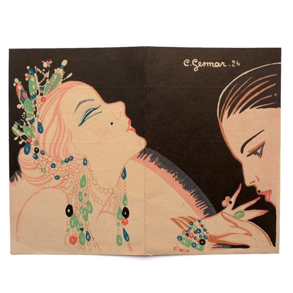 Théâtre de Paris l'école des cocottes illustration Gesmar 1924 vue 0 Souviens Toi De Paris vintage collectible