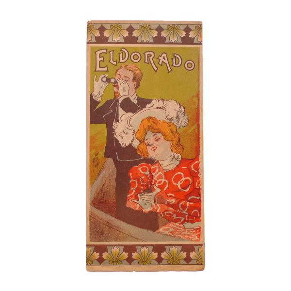 Théâtre de l'Eldorado programme illustré par Ferdinand Misti Mifliez - 1898 vue 0 Souviens Toi De Paris vintage