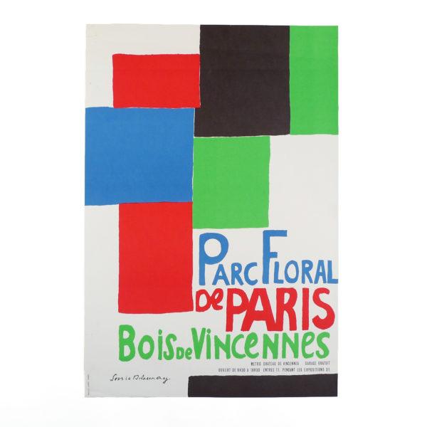 Ancienne affiche Parc Floral de Paris Bois de Vincennes Sonia Delaunay Souviens Toi De Paris vue 0 french vintage poster