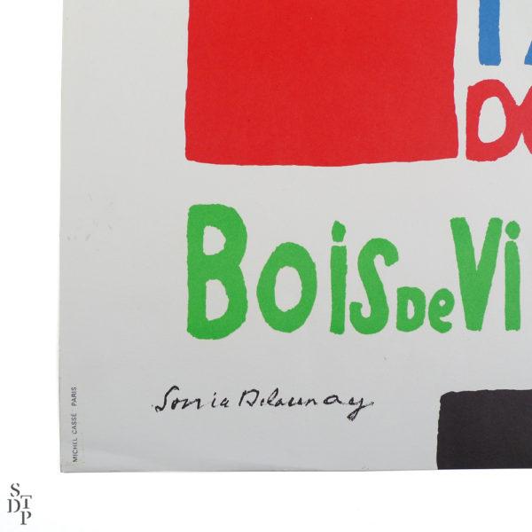 Ancienne affiche Parc Floral de Paris Bois de Vincennes Sonia Delaunay Souviens Toi De Paris vue 2 french vintage poster