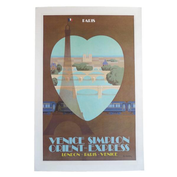 Ancienne affiche Venise Simplon Orient Express Fix Masseau 1981 Souviens Toi De Paris vue 0 vintage poster