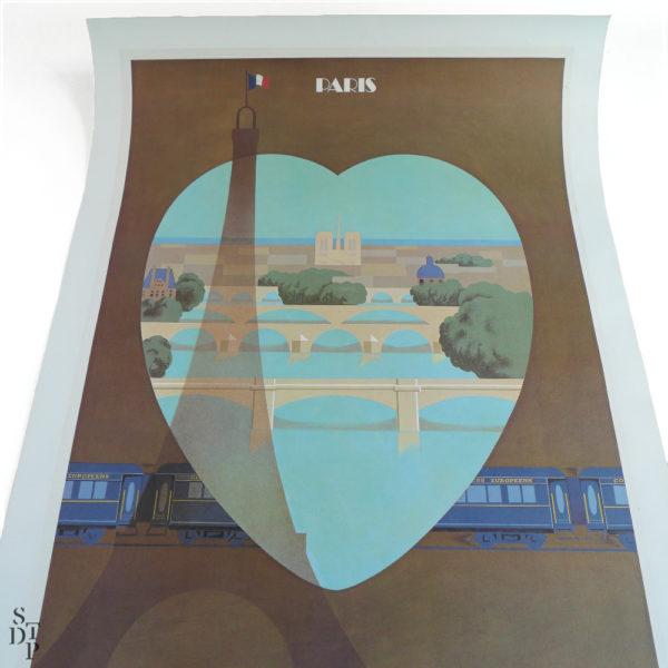 Ancienne affiche Venise Simplon Orient Express Fix Masseau 1981 Souviens Toi De Paris vue 1 vintage poster