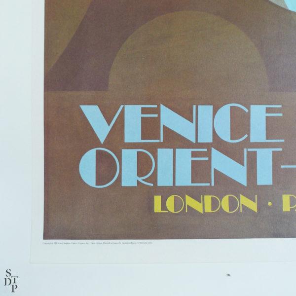 Ancienne affiche Venise Simplon Orient Express Fix Masseau 1981 Souviens Toi De Paris vue 2 vintage poster