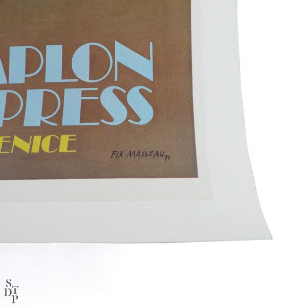 Ancienne affiche Venise Simplon Orient Express Fix Masseau 1981 Souviens Toi De Paris vue 3 vintage poster