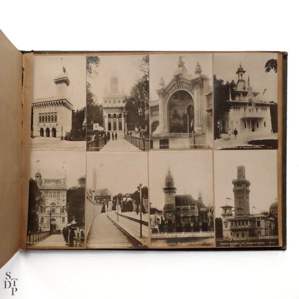Album photo de l' Exposition Universelle Paris 1900 collection Felix Potin SIP Souviens Toi De Paris vintage souvenir shop vue 2