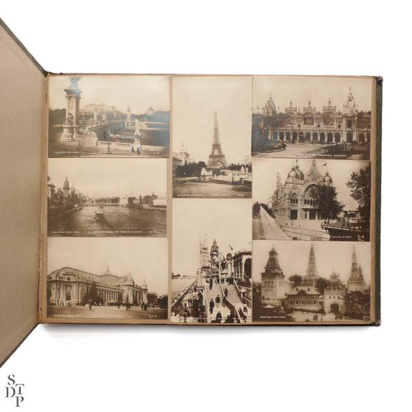 Album photo de l' Exposition Universelle Paris 1900 collection Felix Potin SIP Souviens Toi De Paris vintage souvenir shop vue 3