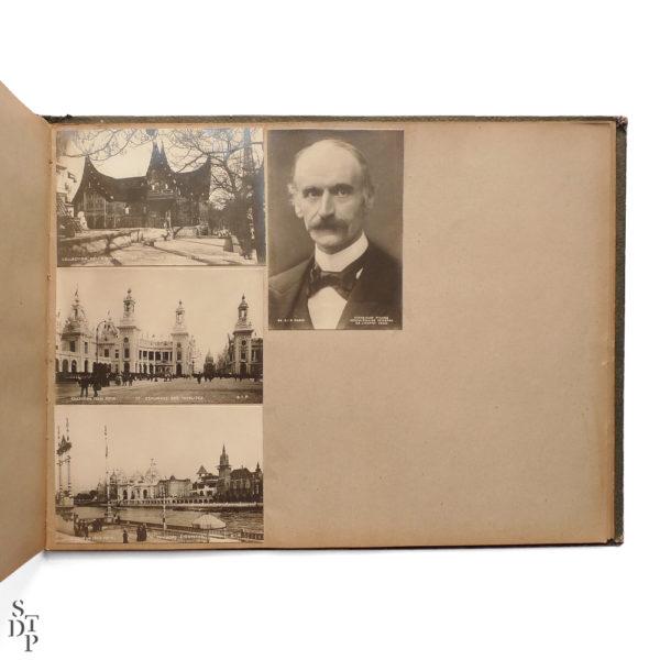 Album photo de l' Exposition Universelle Paris 1900 collection Felix Potin SIP Souviens Toi De Paris vintage souvenir shop vue 5