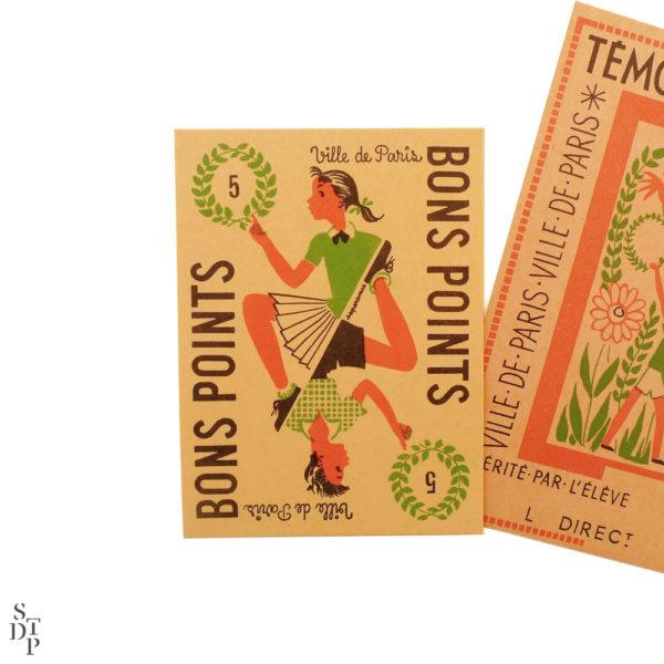 Anciens bons points ville de Paris Souviens Toi De Paris vintage shop vue 2