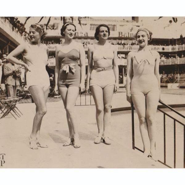 Photographie ancienne Fête de l'eau piscine Molitor 1935 Souviens Toi De Paris vue 0 paris vintage fashion