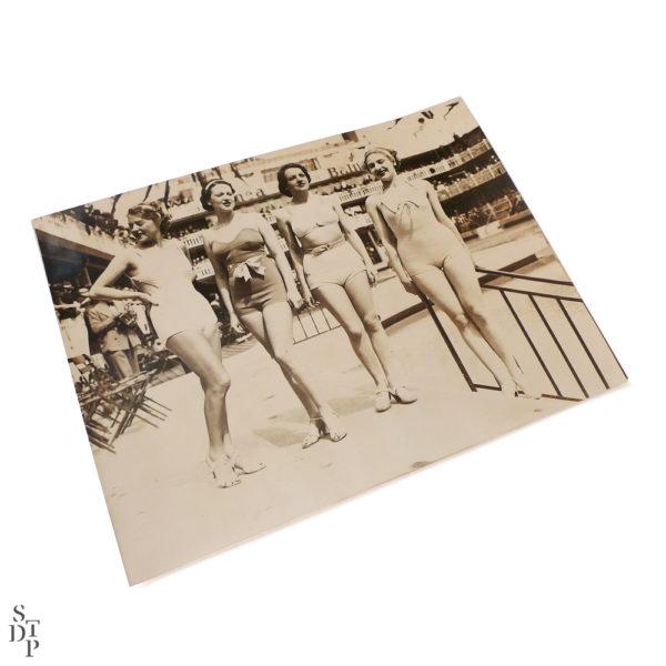 Photographie ancienne Fête de l'eau piscine Molitor 1935 Souviens Toi De Paris vue 1