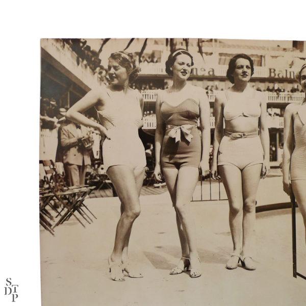 Photographie ancienne Fête de l'eau piscine Molitor 1935 Souviens Toi De Paris vue 2