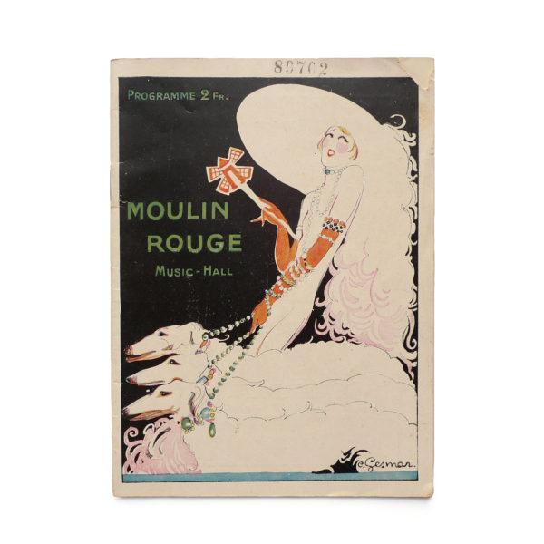 Programme du Moulin Rouge revue Mistinguett Charles Gesmar 1925 Souviens Toi De Paris vintage souvenir shop vue 0