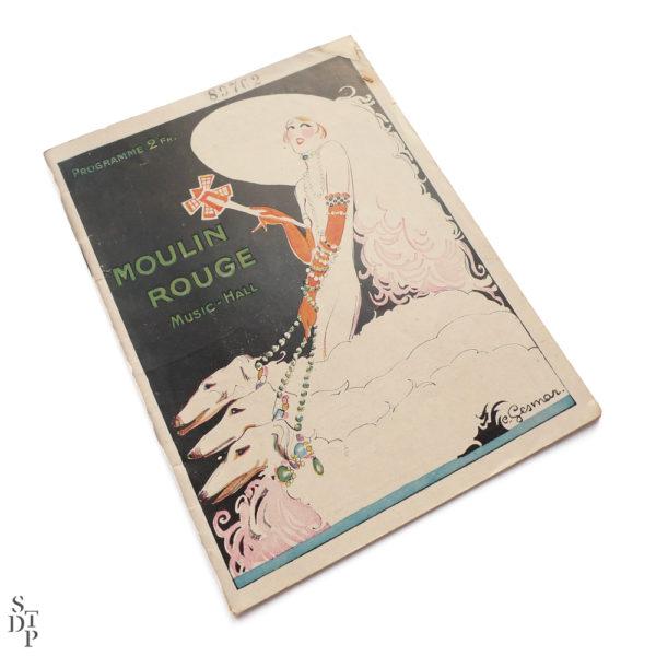 Programme du Moulin Rouge revue Mistinguett Charles Gesmar 1925 Souviens Toi De Paris vintage souvenir shop vue 1