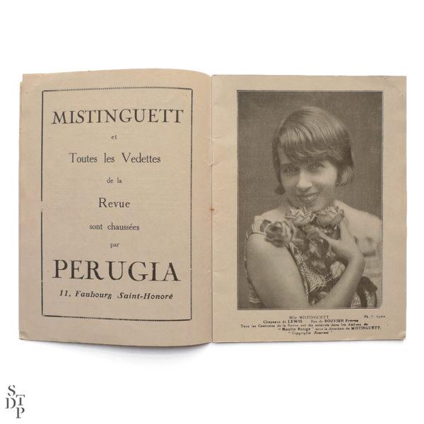 Programme du Moulin Rouge revue Mistinguett Charles Gesmar 1925 Souviens Toi De Paris vintage souvenir shop vue 2
