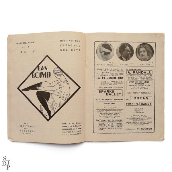 Programme du Moulin Rouge revue Mistinguett Charles Gesmar 1925 Souviens Toi De Paris vintage souvenir shop vue 4
