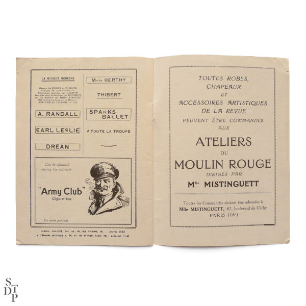 Programme du Moulin Rouge revue Mistinguett Charles Gesmar 1925 Souviens Toi De Paris vintage souvenir shop vue 5