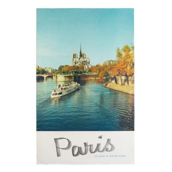 Affiche tourisme Paris la Seine et Notre-Dame Fronval 1960 Souviens Toi De Paris vintage poster vue 0