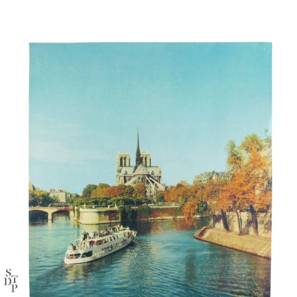 Affiche tourisme Paris la Seine et Notre-Dame Fronval 1960 Souviens Toi De Paris vintage poster vue 3