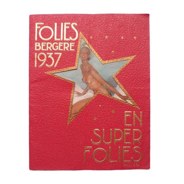Album revue Super Folies Joséphine Baker aux Folies Bergère Souviens Toi De Paris vintage vue 0
