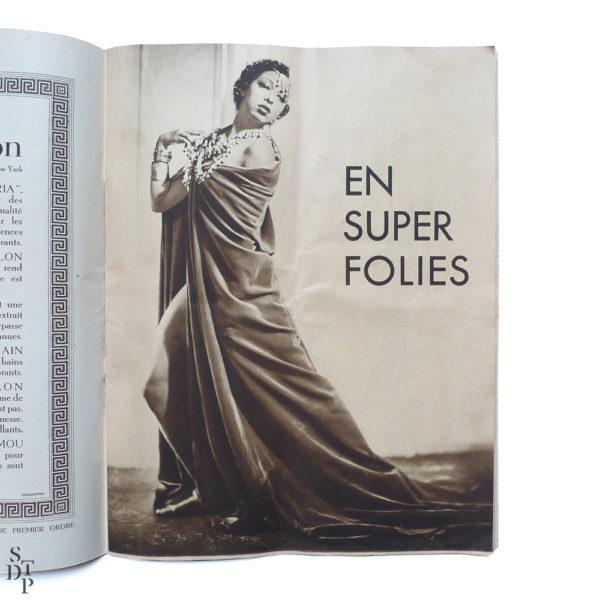 Album revue Super Folies Joséphine Baker aux Folies Bergère Souviens Toi De Paris vintage vue 2