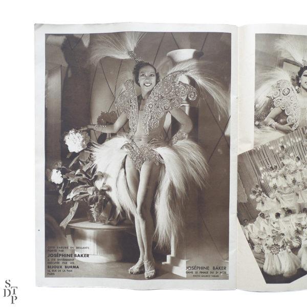 Album revue Super Folies Joséphine Baker aux Folies Bergère Souviens Toi De Paris vintage vue 3