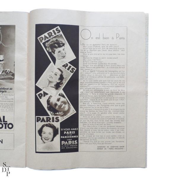 Album revue Super Folies Joséphine Baker aux Folies Bergère Souviens Toi De Paris vintage vue 5