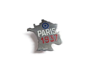 Broche France Paris 1937 Souviens Toi De Paris vue 0 vintage paris souvenir pin