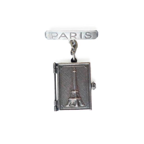 Broche livret photo souvenir de Paris circa 1950 Souviens Toi De Paris vue 0
