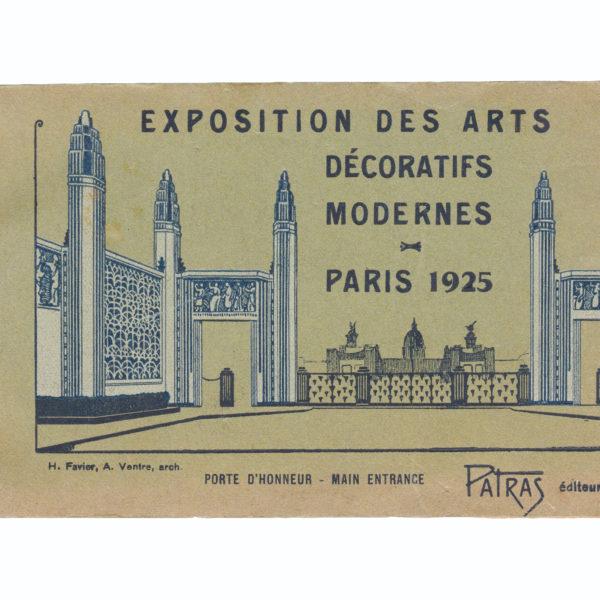 Exposition des Arts Décoratifs Modernes Paris 1925 Patras Souviens Toi De Paris vintage postcard vue 0