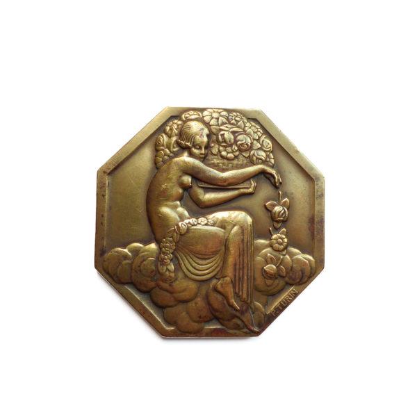 Médaille Exposition Internationale des Arts Décoratifs et Industriels Modernes Pierre Turin 1925 Souviens Toi De Paris vue0