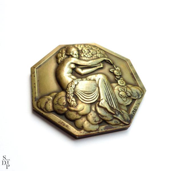 Médaille Exposition Internationale des Arts Décoratifs et Industriels Modernes Pierre Turin 1925 Souviens Toi De Paris vue1
