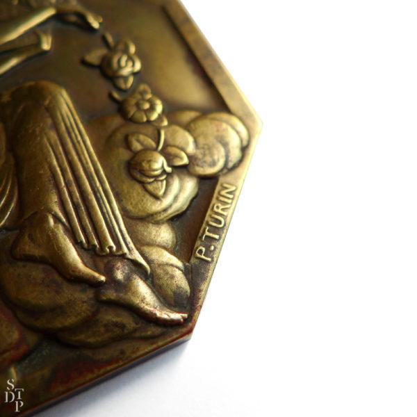 Médaille Exposition Internationale des Arts Décoratifs et Industriels Modernes Pierre Turin 1925 Souviens Toi De Paris vue2