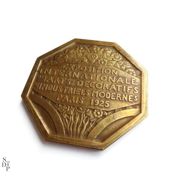 Médaille Exposition Internationale des Arts Décoratifs et Industriels Modernes Pierre Turin 1925 Souviens Toi De Paris vue3