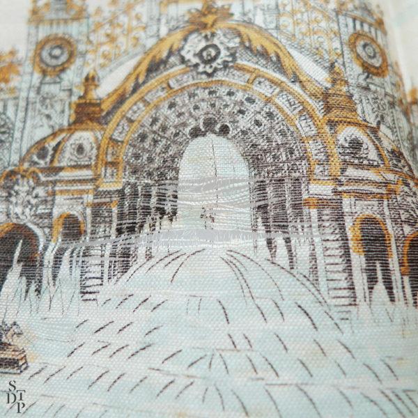 Mouchoir en soie Exposition Universelle souvenir de Paris 1900 Souviens Toi De Paris vintage souvenir vue 3