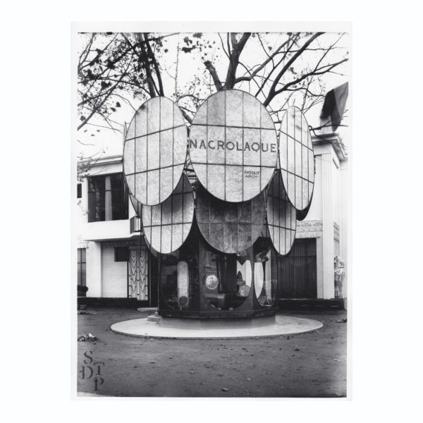Photo Exposition des Arts Décoratifs Pavillon Nacrolaque 1925 Souviens Toi De Paris vintage photo vue 0