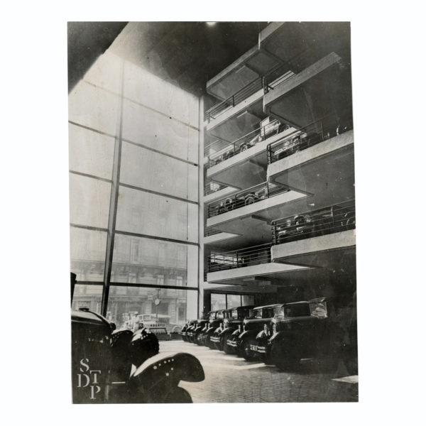 Photo Garage Marbeuf Citroen 1930 Souviens Toi De Paris vintage print vue 0
