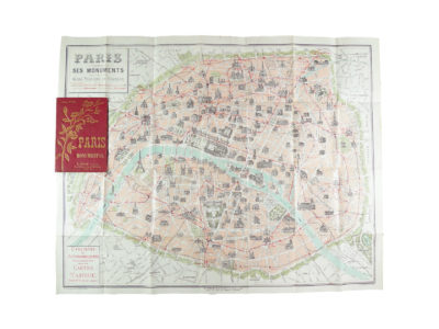 Ancien plan de Paris monumental Taride 1906 Souviens Toi De Paris vintage map vue 0