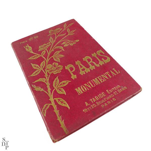 Ancien plan de Paris monumental Taride 1906 Souviens Toi De Paris vintage map vue 1